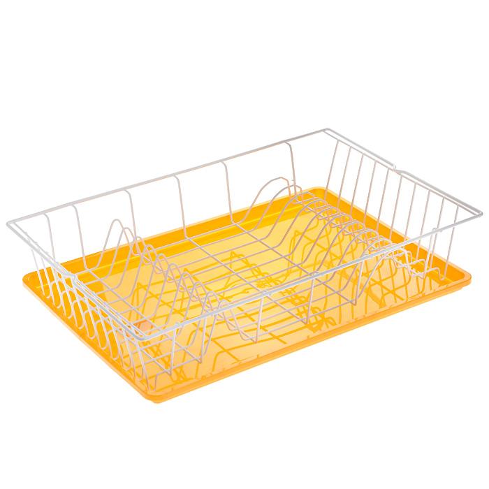 Сушилка для посуды Metaltex Germatex Plus, с поддоном, цвет: белый, желтый, 48 х 30 х 9,5 см32.02.45-514Сушилка Metaltex Germatex Plus, изготовленная из стали, представляет собой решетку с ячейками для посуды. Изделие оснащено пластиковым поддоном для стекания воды. Сушилка Metaltex Germatex Plus не займет много места на вашей кухне. Вы сможете разместить на ней большое количество предметов. Компактные размеры и оригинальный дизайн выделяют эту сушилку из ряда подобных.Размер сушилки: 48 х 30 х 9,5 см.Размер поддона: 45 х 31 х 2 см.