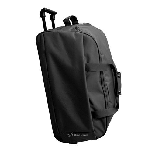 Сумка-чемодан Antan, с выдвижной ручкой, на колесах, цвет: черный. 2-165