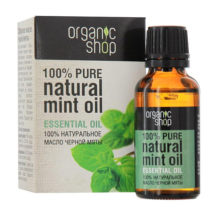 Organic Shop Эфирное масло черной мяты, 30 мл0861-11881100% натуральное эфирное масло черной мяты Organic Shop восстанавливает силы, устраняет нервное перевозбуждение, спровоцированное утомлением и дефицитом сна, повышает интеллектуальную деятельность. При нанесении на кожу освежает и тонизирует ее, стирает следы усталости. Обладает свежим бодрящим ароматом. Подходит для бань и саун.Использование:Ароматерапия: 5-6 капель смешать с 20 мл. воды, применять в аромалампе.Аромаванны: 8-10 капель добавить в ванну, принимать 15-20 минут.Косметология: 1 капля масла на 5 грамм косметического крема или базового жирного масла. Характеристики:Объем: 30 мл. Производитель: Россия. Артикул: 0861-11881. Товар сертифицирован.