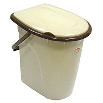 Ведро-туалет М-Пластика, цвет: бежевый, коричневый, 24 л альтернатива ведро туалет полянка 17л