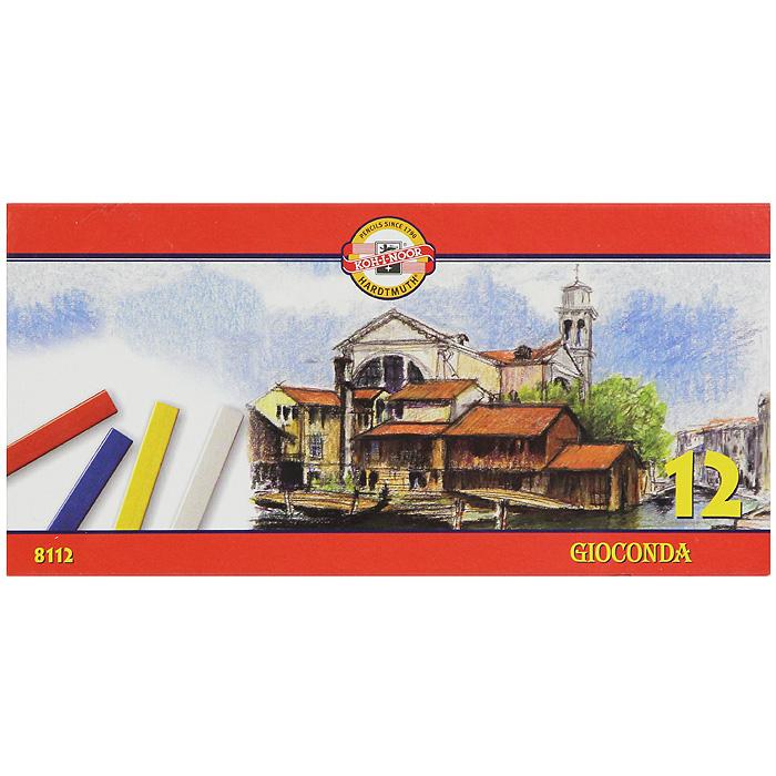 Мелки масляные Gioconda, 12 цветов8112/12Масляные мелки Gioconda подходят и профессиональным, и начинающим художникам. Цвета хорошо смешиваютсяи растушевываются. В наборе 12 цветных мелков: белый, желтый, оранжевый, красный, бордовый, синий, темно-синий, салатовый, зеленый, фиолетовый, коричневый и черный. Характеристики:Размер мелка: 0,6 см х 0,6 см х 7,5 см. Размер упаковки: 20 см х 10 см х 1,5 см. 12 мелков