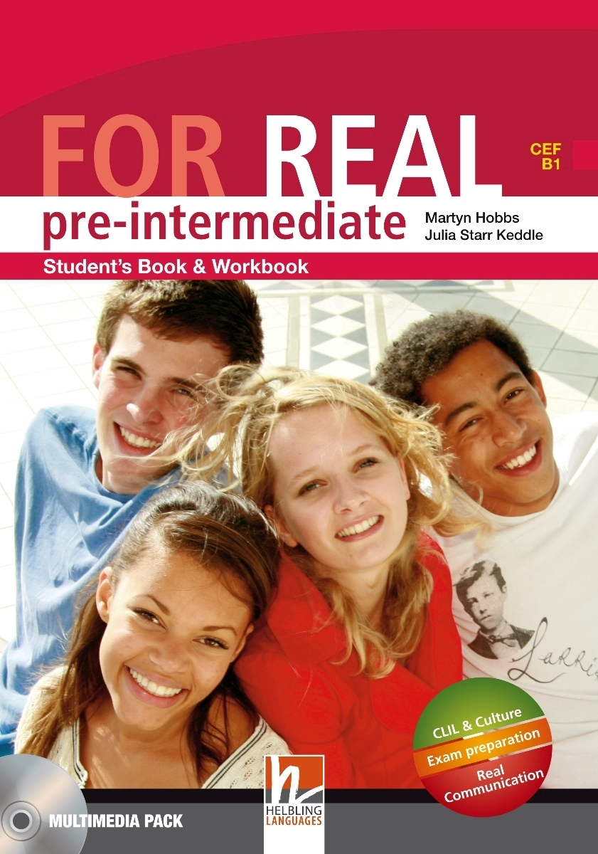 For Real Pre-intermediate Student's Pack STARTER+SB/WB + LINKS + CD-ROM + LINKS Audio CD total english pre intermediate students book dvd rom