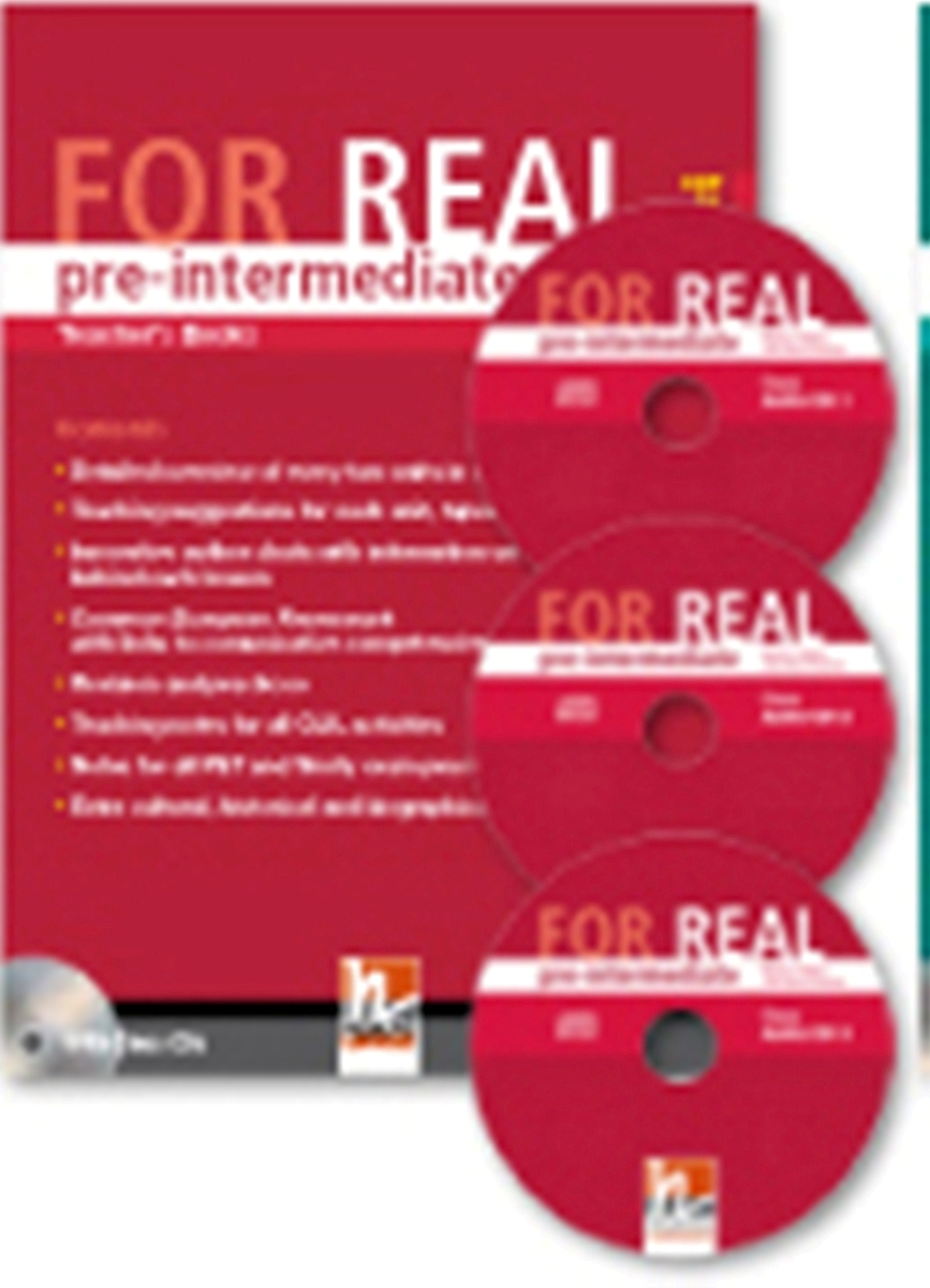 For Real Pre-intermediate Teacher's Book + 3 Class CDs + Interactive Book DVD-ROM choices pre intermediate teacher s book dvd rom