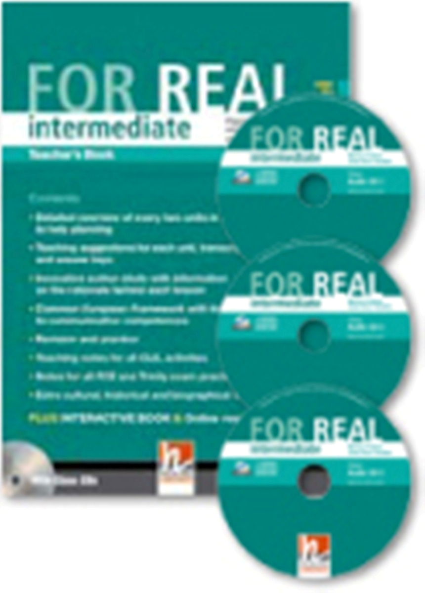 For Real Intermediate Teacher's Book + 3 Class CDs + Interactive Book DVD-ROM lower class brats this is real dvd cd