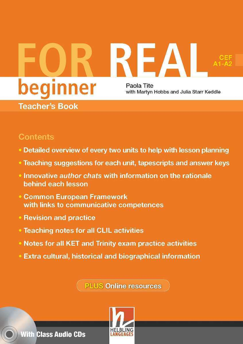For Real Beginner Teacher's Book + 3 Class CDs + Interactive Book DVD-ROM choices elementary teacher s book dvd rom