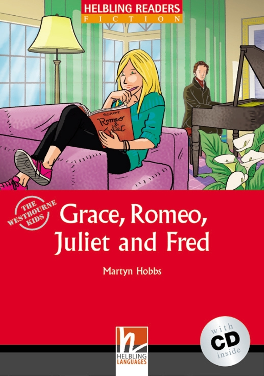 Grace, Romeo, Juliet and Fred + CD (Level 2) by Martyn Hobbs marcel goes to hollywood level 1 cd