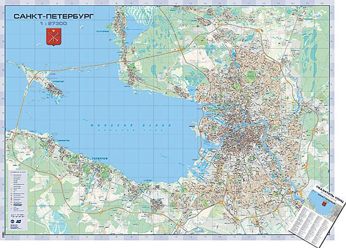 Санкт-Петербург. Настенная карта кострома настенная карта