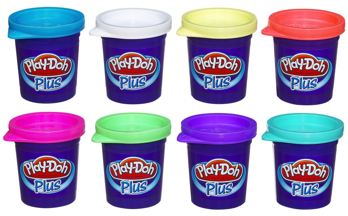 Play-Doh Plus, Пластилин 8 цветов, в ассортиментеB3423EU4При помощи нового цветного пластилина Play-Doh Plus ваш ребенок сможет слепить даже самые маленькие детали для своих шедевров! Структура пластилина более мягкая и приятная на ощупь, он имеет сладкий запах, но при этом соленый на вкус! Пластилин Play-Doh Plus поможет ребенку развить творческие способности, воображение и мелкую моторику рук. В набор входит пластилин восьми цветов в отдельных пластиковых баночках и инструкция по использованию. Характеристики:Размер баночки (ДхШхВ): 5 см х 5,5 см х 5 см. Общая масса пластилина: 226 г. Размер упаковки (ДхШхВ): 21 см х 6 см х 11 см. Изготовитель: Китай. УВАЖАЕМЫЕ КЛИЕНТЫ! Товар поставляется в цветовом ассортименте. Поставка осуществляется в зависимости от наличия на складе.