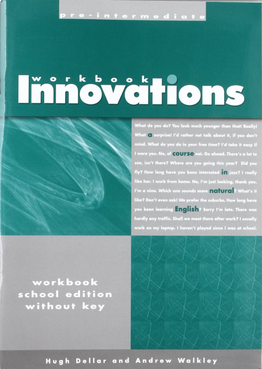 Innovations Pre-Intermediate Workbook teacher s use of english coursebooks with primary school learners