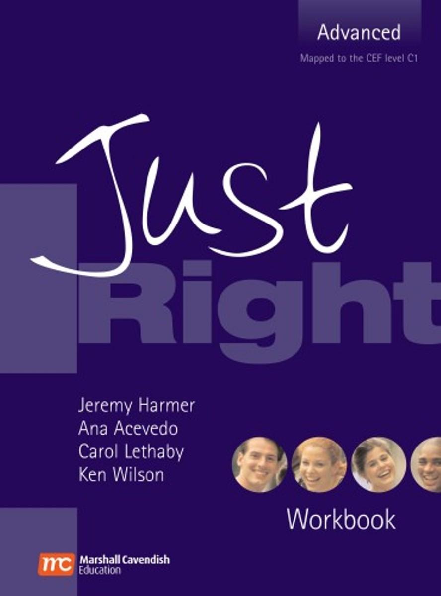 Just Right Advanced Workbook (No Key) just right intermediate workbook no key