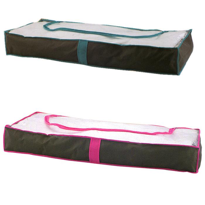 Чехол для хранения под кроватью, 103 см х 45 см х 15 см, в ассортиментеFS-6501Удобный чехол предназначен для хранения вещей под диваном или кроватью. Он выполнен из высококачественного нетканого материала, который не пропускает пыль и при этом позволяет воздуху свободно проникать внутрь, обеспечивая естественную вентиляцию. Чехол закрывается на застежку-молнию. Прозрачная вставка без труда поможет определить, какая именно вещь хранится в чехле.Такой чехол надежно защищает вещи от загрязнений, пыли и влаги, а также позволит вам хранить вещи компактно и с удобством. Характеристики:Материал: нетканый материал, ПВХ. Размер чехла: 103 см х 45 см х 15 см. Артикул: FS-6501.УВАЖАЕМЫЕ КЛИЕНТЫ!Товар поставляется в цветовом ассортименте. Поставка осуществляется в зависимости от наличия на складе.