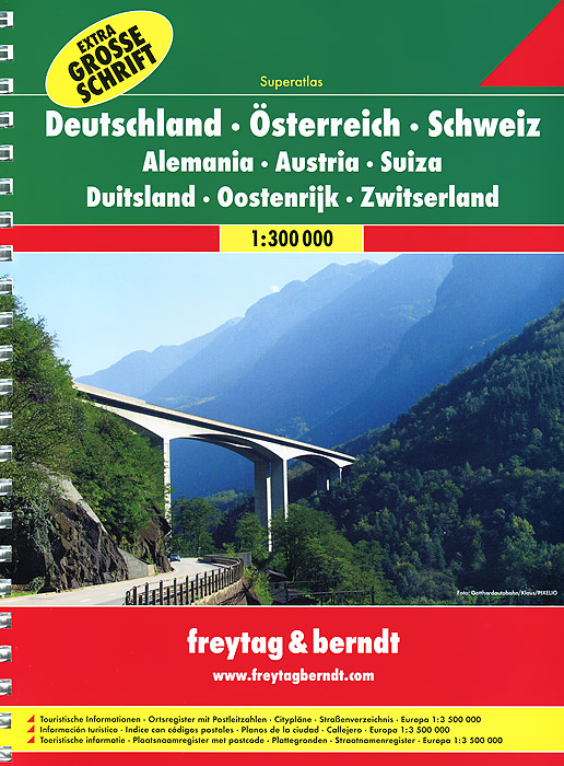 Germany, Austria, Switzerland: Road Atlas