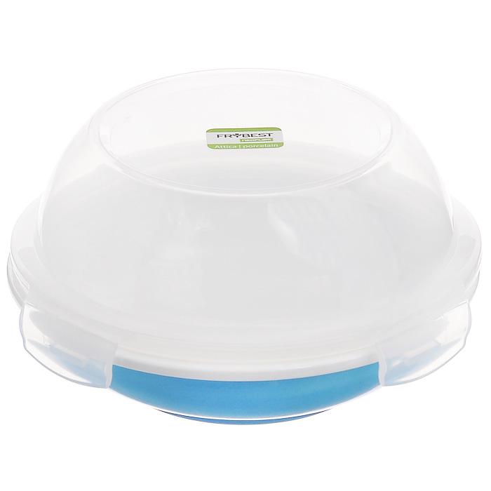 Контейнер для продуктов Frybest фарфоровый, цвет: синий, белый, 650 млCL-CD-065-CКруглый контейнер для продуктов Frybest выполнен из высококачественного фарфора белого цвета, нижняя сторона - синего цвета. Контейнер оснащен удобной прозрачной крышкой, которая плотно закрывается на 4 защелки. Основные преимущества: - экологичность (не содержит вредных и ядовитых материалов); - герметичность (превосходная герметичность позволяет сохранить свежесть продуктов); - чистота и гигиеничность (цвет материала не блекнет со временем, покрытие не впитывает запах); - утонченный европейский дизайн (прекрасное украшение стола); - удобство использования (подходит для мытья в посудомоечной машине, хранения в холодильной и морозильной камере). Характеристики:Материал: пластик, фарфор. Цвет: белый, синий. Объем: 650 мл. Диаметр контейнера: 18,5 см. Высота (без учета крышки): 4,5 см. Высота (с учетом крышки): 11 см. Размер упаковки: 20,5 см х 19,5 см х 10,5 см. Производитель: Корея. Артикул: CL-CD-065-C.