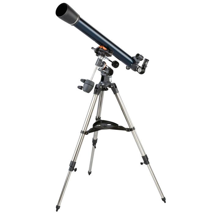 Celestron AstroMaster 70 EQ телескоп-рефракторC21062Телескоп Celestron AstroMaster 70 EQ - это мощный оптический инструмент, обладающий качественной оптикой, надежностью и простотой в эксплуатации. Устройство дает яркие, контрастные изображения тысяч объектов ночного неба, делая занятия астрономией интересными и доступными каждому. Телескоп быстро подготавливается к работе, не требуя инструментов для сборки, и практически не нуждается в техническом обслуживании.Телескопы серии AstroMaster оснащены переработанными искателями StarPointer, упрощающими наведение на цель, быстросъемными приспособлениями типа «ласточкин хвост» для крепления оптической трубы, удобными полочками для аксессуаров и легкими, предварительно собранными стальными треногами. Телескопы имеют ручное управление, позволяющее легко и быстро находить небесные объекты и следить за ними. Интересуют наблюдения наземных объектов? Оптика с прямым изображением идеально подходит для этих целей.