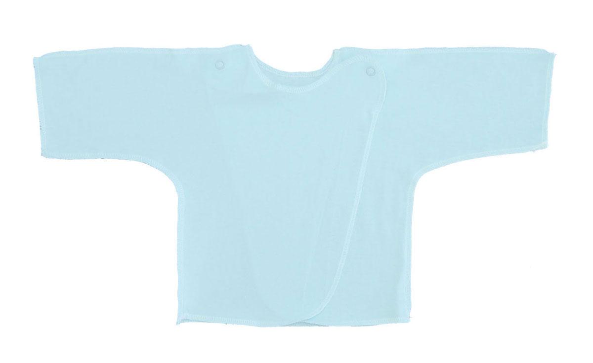 Распашонка Трон-плюс, цвет: голубой. 5002. Размер 50, 0-1 месяц5002Распашонка для мальчика Трон-плюс послужит идеальным дополнением к гардеробу вашего малыша. Распашонка изготовлена из натурального хлопка, благодаря чему она необычайно мягкая и легкая, не раздражает нежную кожу ребенка и хорошо вентилируется, а эластичные швы приятны телу малыша и не препятствуют его движениям. Распашонка с запахом, застегивается при помощи двух кнопок на плечах, которые позволяют без труда переодеть ребенка.