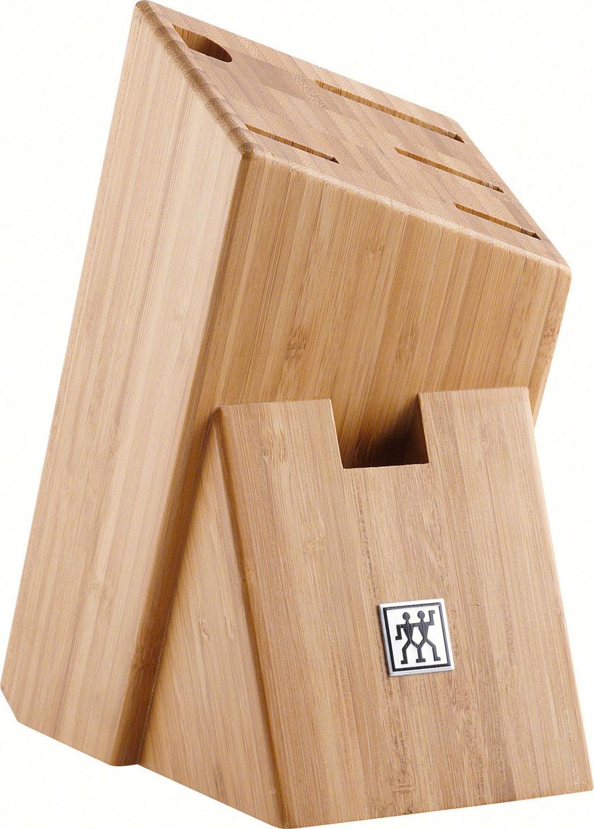 Подставка для ножей из бамбука35017-100Изготовлена из бамбука. Имеет 6 отделений. Изделия из бамбука обладают высокой стойкостью к механическим повреждениям и влаге. Не размещайте подставку вблизи источников тепла, периодически протирайте влажной тканью. Не оставлять в воде, не мыть в посудомоечной машине . Использовать только по назначению! Хранить в недоступном для детей месте.Адрес изготовителя: 679 Чанг Лин Роад, 201112 Шанхай, Китай (679 Chang Lin Road, 201112 Shanghai, China) Характеристики: Материал: бамбук.Артикул: 35017-100.