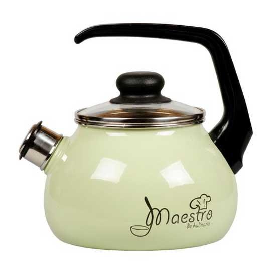 Чайник Vitross Maestro со свистком, цвет: черный, салатовый, 2 л gipfel чайник для кипячения воды visit 2 7 л