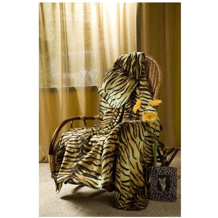 Плед флисовый Тигрица, 150 х 200 см