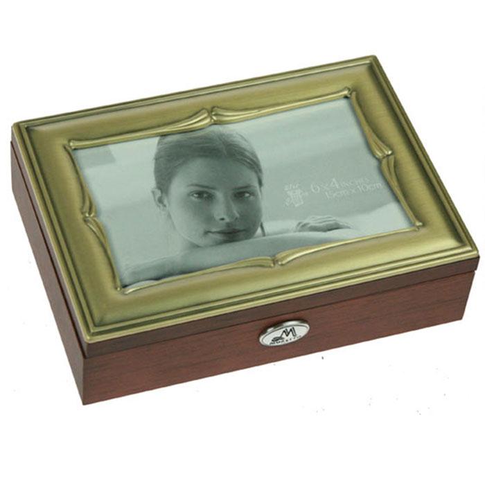 Шкатулка ювелирная Moretto, цвет: коричневый, 18 см х 13 см х 5 см. 39799 икона пресвятая богородица 10 5 см х 14 5 см
