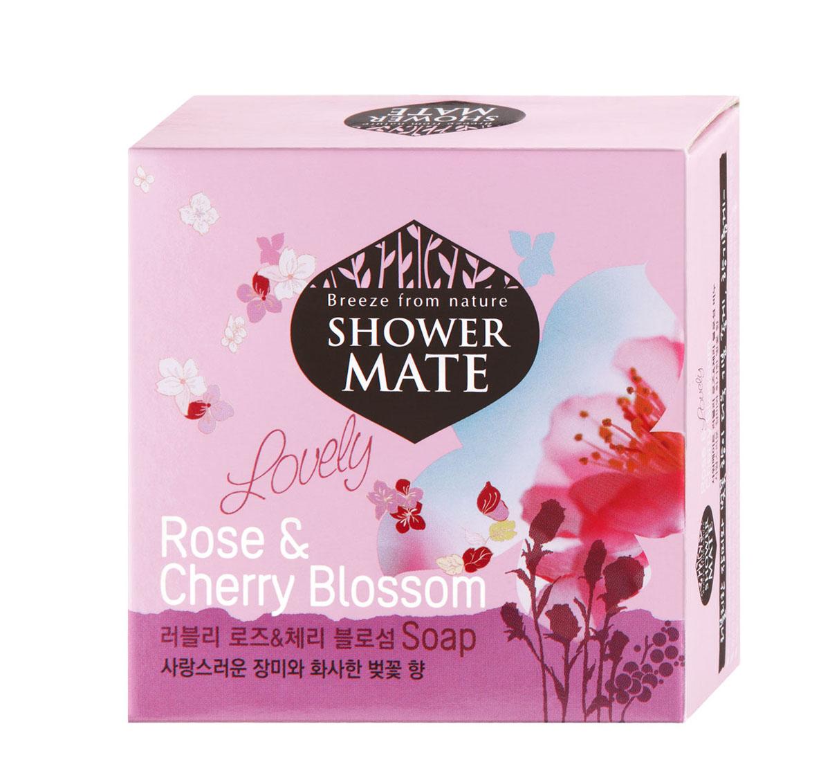 Shower Mate Мыло косметическое Роза и вишневый цвет, 100 г988077Экстракт розы увлажняет и успокаивает кожу. Экстракт вишни делает кожу гладкой и эластичной. Роскошный аромат розы и едва уловимый аромат цветов вишни создают романтичное настроение и ощущение полного блаженства. Характеристики:Вес: 100 г. Артикул: 988077. Производитель: Корея. Товар сертифицирован.