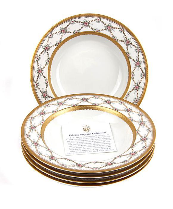 Комплект из 5-ти суповых тарелок Фаберже