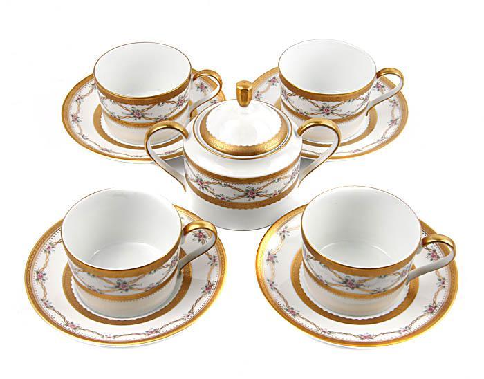Чайный набор Фаберже на четыре персоны