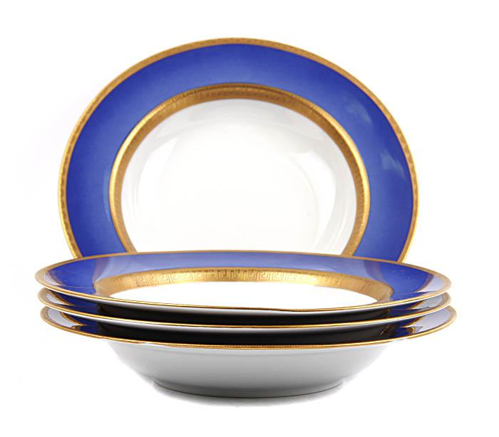 Комплект из четырех суповых тарелок Фаберже