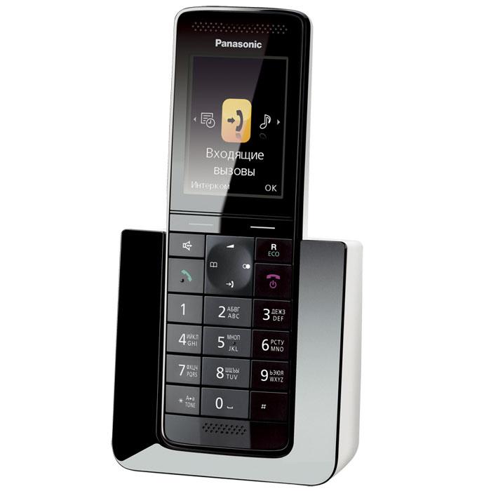 Panasonic KX-PRS110 RUWKX-PRS110RUWБеспроводной телефон сегмента «премиум» Panasonic KX-PRS110RU. Новинка совместила в себе уникальный дизайн и расширенные функциональные возможности.Модель KX-PRS110RU представляет собой воплощенное совершенство форм и дизайна. Стильная трубка отлично впишется в любой интерьер, как в офисе, так и дома. Изысканные материалы отделки, 2.2 дюймовый цветной TFT дисплей с четкими графическими иконками сделают использование этой модели максимально приятным и комфортным.Panasonic KX-PRS110RU оснащен голосовым АОН, Caller ID, функцией радионяня, эко-режимом и функцией снижения уровня фонового шума, позволяющей снизить уровень окружающих шумов со стороны другого абонента и обеспечить чистый звук во время разговора. Модель совместима с брелоком-искателем KX-TGA20RU, имеет возможность одновременно подключать до 6 дополнительных трубок для удобной организации связи, а также оснащена телефонным справочником, вмещающим до 300 контактов.