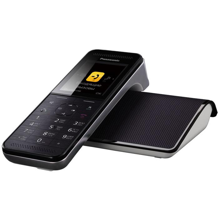 Panasonic KX-PRW120 RUW DECT телефонKX-PRW120RUWБеспроводной телефон сегмента премиум Panasonic KX-PRW120RU. Новинка совместила в себе уникальный дизайн и расширенные функциональные возможности. Одной из инновационных особенностей модели KX-PRW120RU стала возможность подключения смартфона с использованием приложения Smartphone Connect.Модель KX-PRW120RU представляет собой воплощенное совершенство форм и дизайна. Стильная трубка отлично впишется в любой интерьер, как в офисе, так и дома. Изысканные материалы отделки, 2.2 дюймовый цветной TFT дисплей с четкими графическими иконками сделают использование этой модели максимально приятным и комфортным. Горизонтальное исполнение трубки у модели KX-PRW120RU обеспечит дополнительное удобство при разговоре по спикерфону, а магнитный адаптер позволит быстро и надежно поместить трубку на базовый блок.Panasonic KX-PRW120RU оснащен голосовым АОН, Caller ID, функцией радионяня, эко-режимом и функцией снижения уровня фонового шума, позволяющей снизить уровень окружающих шумов со стороны другого абонента и обеспечить чистый звук во время разговора. Модель совместима с брелоком-искателем KX-TGA20RU, имеет возможность одновременно подключать до 6 дополнительных трубок для удобной организации связи, а также оснащена телефонным справочником, вмещающим до 500 контактов.Модель KX-PRW120RU способна подключаться к беспроводной сети Wi-Fi, благодаря чему с помощью бесплатного приложения Smartphone Connect к DECT телефону можно подключить до 4-х смартфонов или планшетов. Данное приложение позволит пользователям открыть абсолютно новые способы использования стационарной связи и мобильного телефона и расширить возможности их совместного использования. Так, пользователи смогут совершать и принимать вызовы по стационарной линии через смартфон, общаться по внутренней связи между DECT трубкой и мобильным телефоном (Intercom), переводить вызовы на смартфон, а также организовывать трехстороннюю конференц-связь (DECT трубка, смартфон и один внешний а