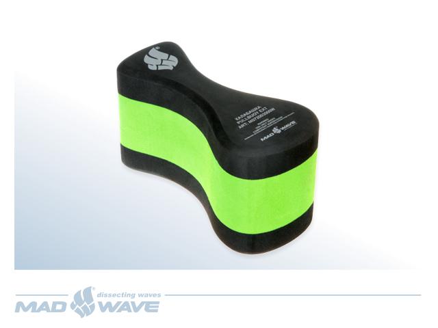 Колобашка для плавания MadWave Pull Buoy EXT, цвет: черный зеленый шапочка для плавания madwave madwave ma991dkiwh88