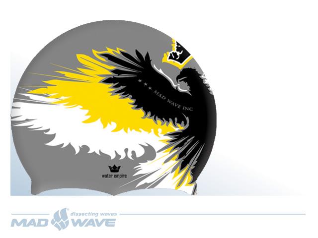 Шапочка для плавания MadWave Empire, цвет: серый