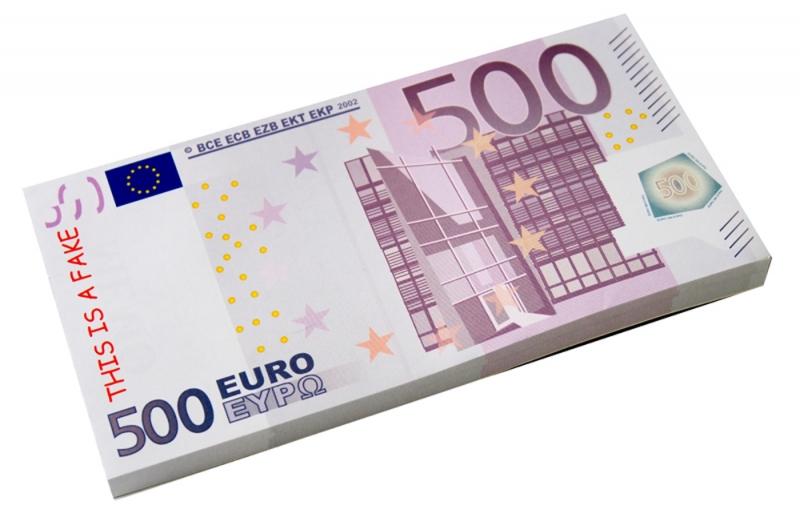 Набор стикеров 500 евро. 002765002765Набор стикеров в виде пачки купюр достоинством 500 евро выполнен из ламинированной бумаги. Стикеры отрывные. Обратная сторона купюр разлинована.На таких стикерах можно написать заметки или важную информацию, и быть уверенным, что такой листок точно не потеряется. Характеристики: Материал: ламинированная бумага. Размер стикера: 16 см х 8,2 см. Размер пачки: 16 см х 8,2 см х 1 см. Артикул: 002765.