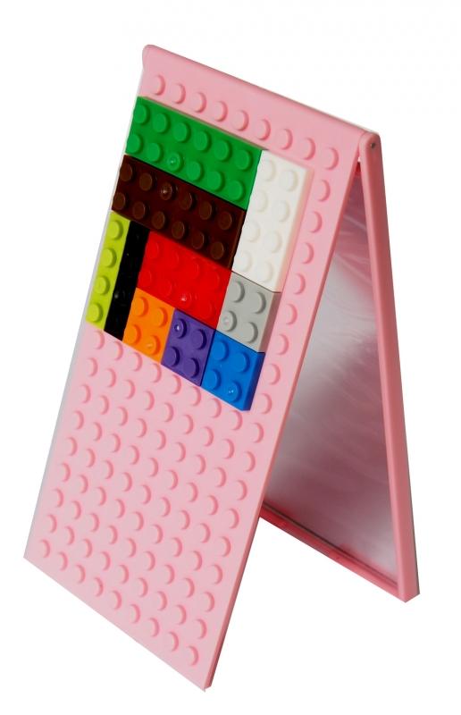 Зеркало складное Конструктор, цвет: розовый блокнот конструктор цвет желтый 8 см х 14 см 002750