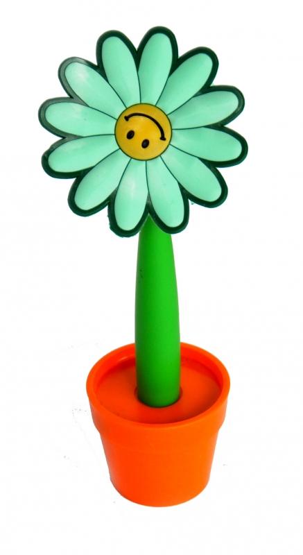 Ручка Цветок в горшке, цвет зеленый roomble декоративный цветок в горшке baby bird grande