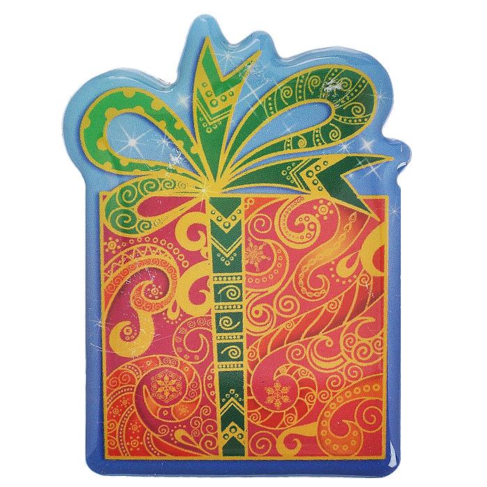 Декоративный магнит Новогодний подарок, 6 см х 5 см. 31544 магнит angelucky влюблённая парочка пластик авторская работа 7 5 х 5 см