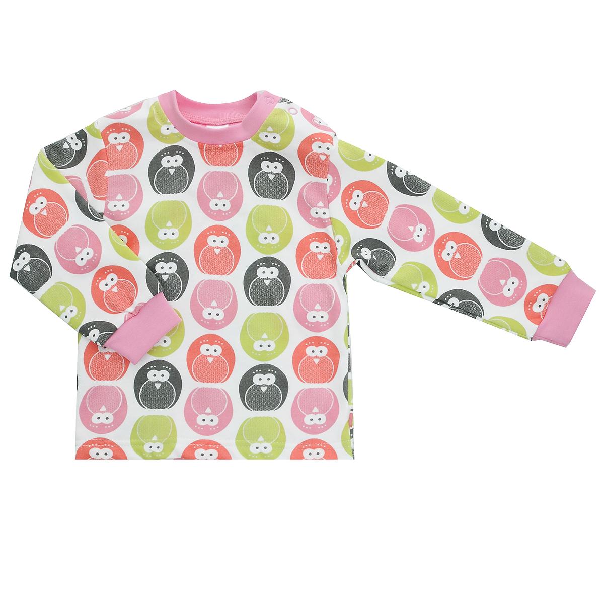 Футболка с длинным рукавом детская Bossa Nova, цвет: белый, розовый, с пингвинами. 211Б-482. Размер 62, 3 месяца211Б-482Футболка для новорожденного Bossa Nova с длинными рукавами и небольшим воротничком-стоечкой послужит идеальным дополнением к гардеробу вашего малыша, обеспечивая ему наибольший комфорт. Изготовленная из натурального хлопка, она необычайно мягкая и легкая, не раздражает нежную кожу ребенка и хорошо вентилируется, а эластичные швы приятны телу малыша и не препятствуют его движениям. Удобные застежки-кнопки по плечу помогают легко переодеть младенца. Футболка, оформленная оригинальным принтом, полностью соответствует особенностям жизни ребенка в ранний период, не стесняя и не ограничивая его в движениях. В ней ваш малыш всегда будет в центре внимания.