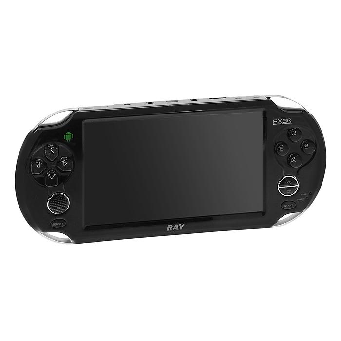 Портативная игровая консоль EXEQ Ray (черная)MP-1021EXEQ RAY - игровая консоль под управлением самой популярной и стабильной платформы Android 4.0 от EXEQ! Вам надоело то, что Вы играете в игры на мобильном телефоне, но у него маленький неудобный экран, нет клавиш управления, да и вообще после игры телефон разряжается, а Вам нужно позвонить и написать SMS? Супермощная игровая приставка Exeq Ray решает эти проблемы! Огромный экран с диагональю 5 дюймов, бесконечное количество игр в Android Market,возможность посещать интернет, смотреть фильмы, слушать музыку и много другое - основные преимущества новой приставки. Если Вы выбираете приставку для удовольствия и отличного времяпрепровождения - то выбор очевиден!
