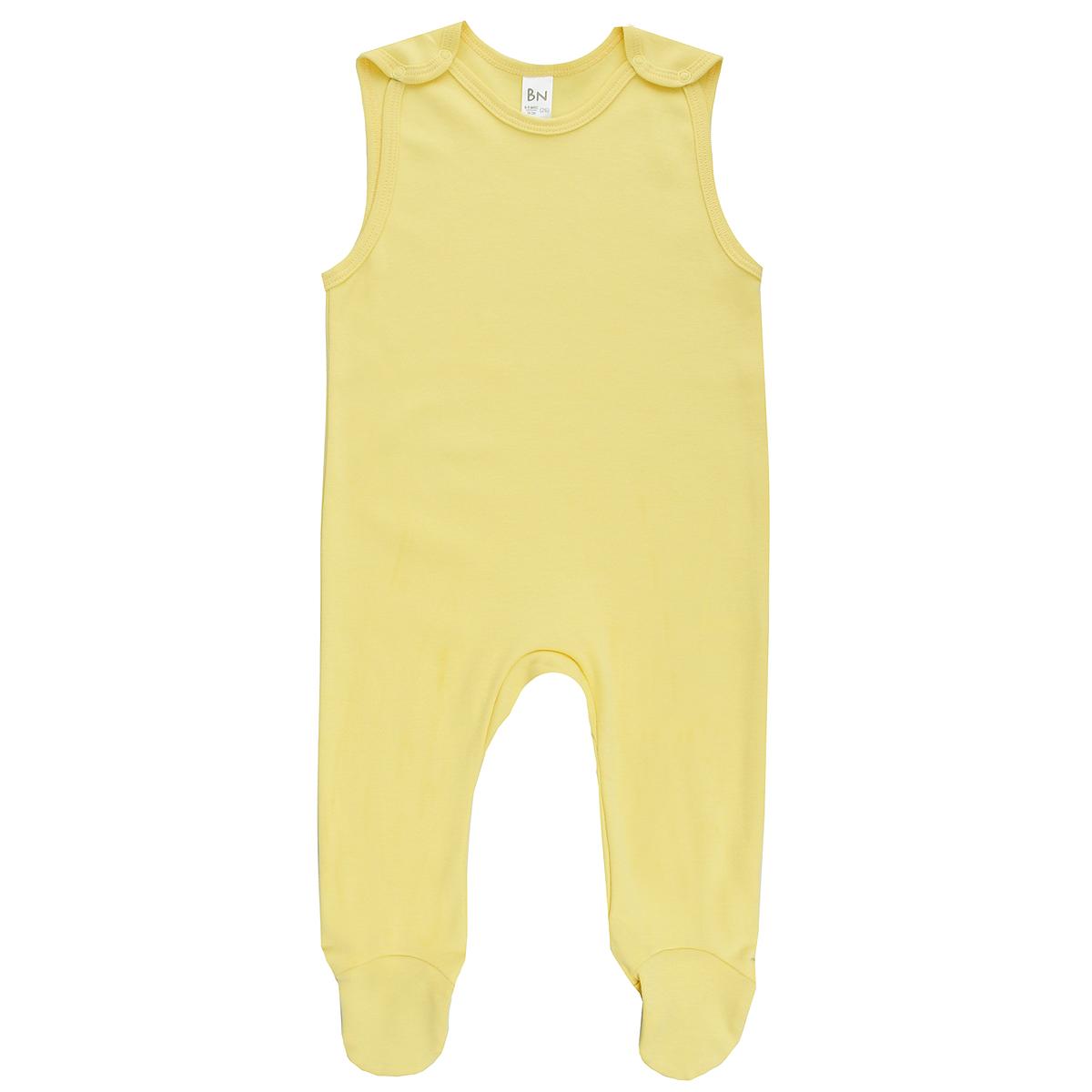 Ползунки с грудкой Bossa Nova, цвет: желтый. 538Б-361. Размер 62, 3 месяца ползунки bossa nova ползунки с лапками дай лапу 531к 371