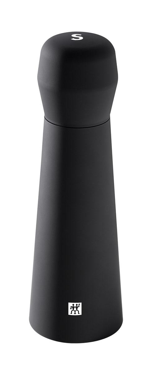 Мельница для соли Zwilling Spices, цвет: черный39500-020Мельница для соли и специй Zwilling Spices станет практичным украшением при сервировке стола, предназначена для измельчения перца и специй.Измельчающий механизм из керамики, корпус из ABS пластика. Механизм перечницы позволяет плавно регулировать степень помола.Хранить в недоступном для детей месте.Нельзя мыть в посудомоечной машине. Высота: 19 см. Диаметр: 6 см.