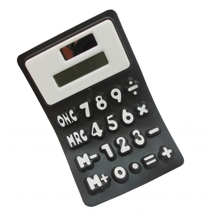 Калькулятор мягкий, цвет: черный. 002925002925Оригинальный мягкий калькулятор выполнен из силикона черного цвета. Несмотря на свой нестандартный вид и мягкость, он позволит вам без труда провести самые сложные вычисления за считанные секунды. Такой калькулятор станет забавным и практичным подарком - он украсит ваш рабочий стол и не затеряется среди бумаг. Характеристики: Материал: силикон. Цвет: черный. Размер калькулятора: 7 см х 11 см х 0,7 см. Размер упаковки: 7,5 см х 12 см х 1 см. Артикул: 002925.