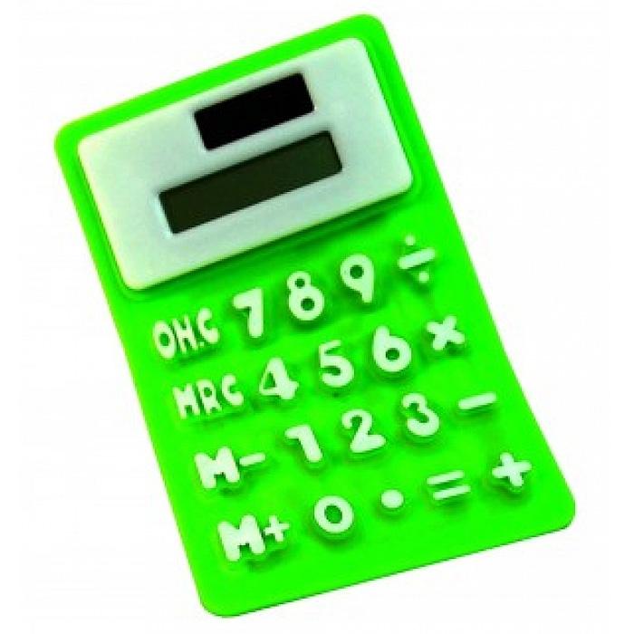 Калькулятор мягкий, цвет: зеленый. 002544 -  Калькуляторы