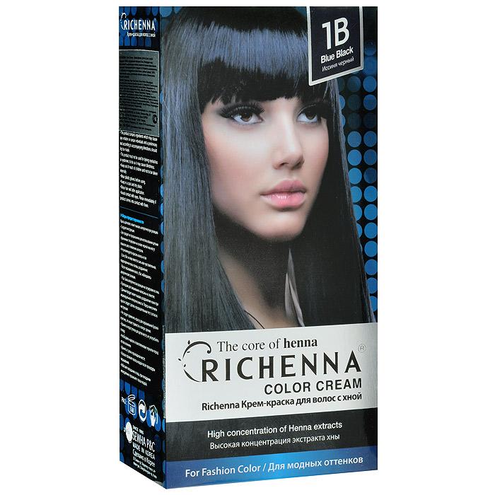 Richenna Крем-краска для волос, с хной, 1B. Иссиня-черный29005Крем-краска для волос Richenna с хной рекомендуется для безопасного изменения цвета волос, полного окрашивания седых волос и в случае повышенной чувствительности к искусственным компонентам краски для волос. Высокая концентрация экстракта хны в составе крем-краски позволяет уменьшить повреждение волос, сделать их эластичными и здоровыми, придает волосам живой цвет и красивый блеск. Не раздражая кожу, крем-краска полностью закрашивает седину и обладает приятным цветочным ароматом. Упаковка средства в 2-х отдельных тубах позволяет использовать средство несколько раз в зависимости от объема и длины волос. Благодаря кремовой текстуре хорошо наносится и не течет. Время окрашивания 20-30 мин. Характеристики:Номер краски: 1B. Цвет: иссиня-черный. Объем крем-краски: 60 г. Объем крем-окислителя: 60 г. Объем шампуня с хной: 10 мл. Объем кондиционера с хной: 7 мл. Производитель: Корея. В комплекте: 1 тюбик с крем-краской, 1 тюбик с крем-окислителем, 1 пакетик с шампунем, 1 пакетик с кондиционером, 1 пара перчаток, накидка, пластиковая тара, расческа-кисточка для нанесения и распределения крем-краски и инструкция по применению. Товар сертифицирован.ВНИМАНИЕ! Продукт может вызвать аллергическую реакцию, которая в редких случаях может нанести серьезный вред вашему здоровью. Проконсультируйтесь с врачом-специалистом передприменением любых окрашивающих средств.УВАЖАЕМЫЕ КЛИЕНТЫ!Обращаем ваше внимание на измененный дизайн упаковки. Поставка возможна в зависимости от наличия на складе. Комплектация осталась без изменений.