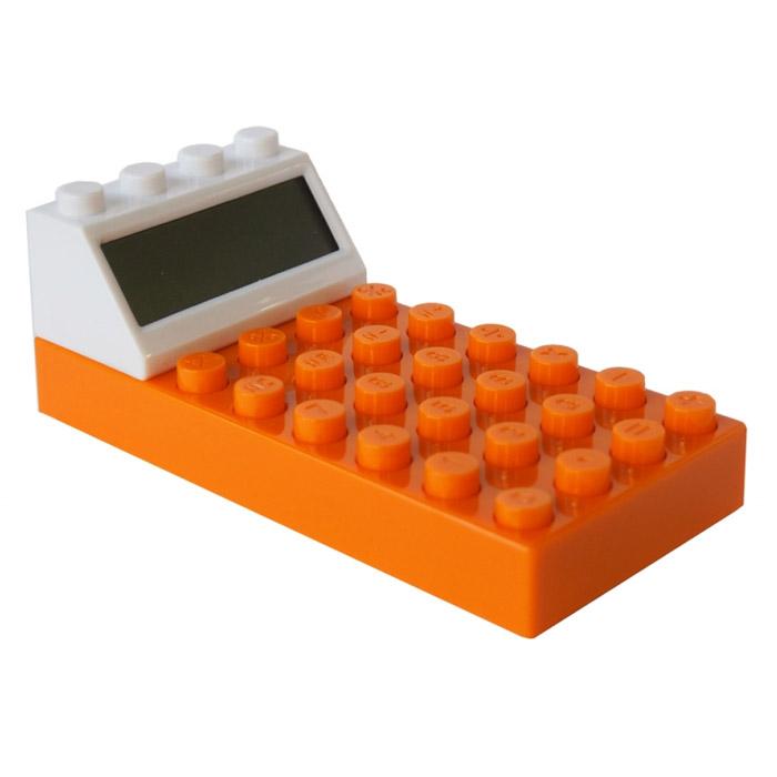 Калькулятор Конструктор, цвет: оранжевый. 002922002922Калькулятор Конструктор выполнен из пластика оранжевого цвета и по дизайну напоминает элемент конструктора Lego. Несмотря на свой нестандартный вид, он позволит вам без труда провести самые сложные вычисления за считанные секунды. Такой калькулятор станет забавным и практичным подарком - он украсит ваш рабочий стол и не затеряется среди бумаг. Характеристики: Материал: пластик. Цвет: оранжевый. Размер калькулятора: 6,5 см х 14 см х 5 см. Размер упаковки: 11,5 см х 16 см х 6 см. Артикул: 002922. Калькулятор работает от 2 батареек типа ААА (в комплект не входят).