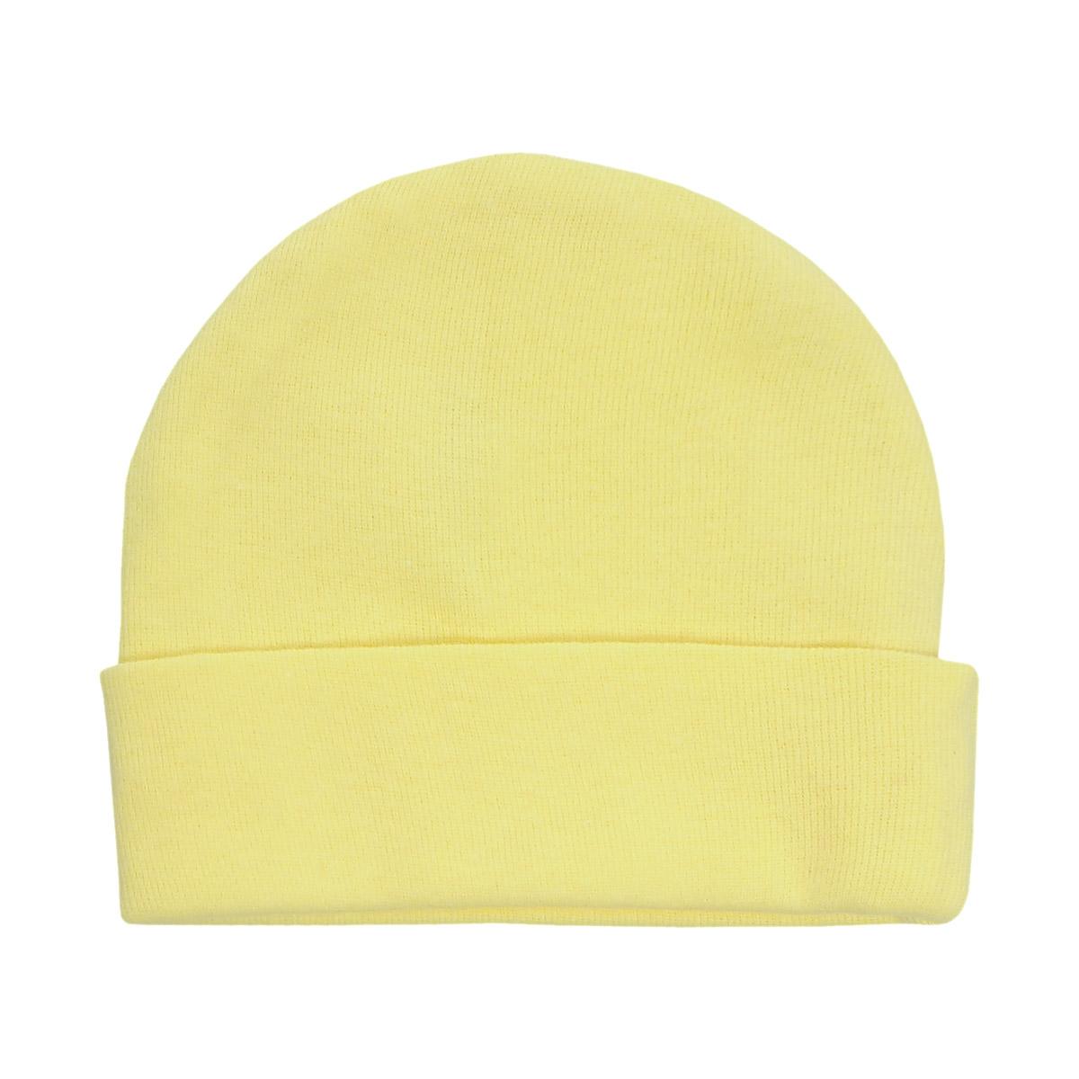 Шапочка унисекс Трон-Плюс, цвет: желтый. 6312. Размер 56, 1 месяц