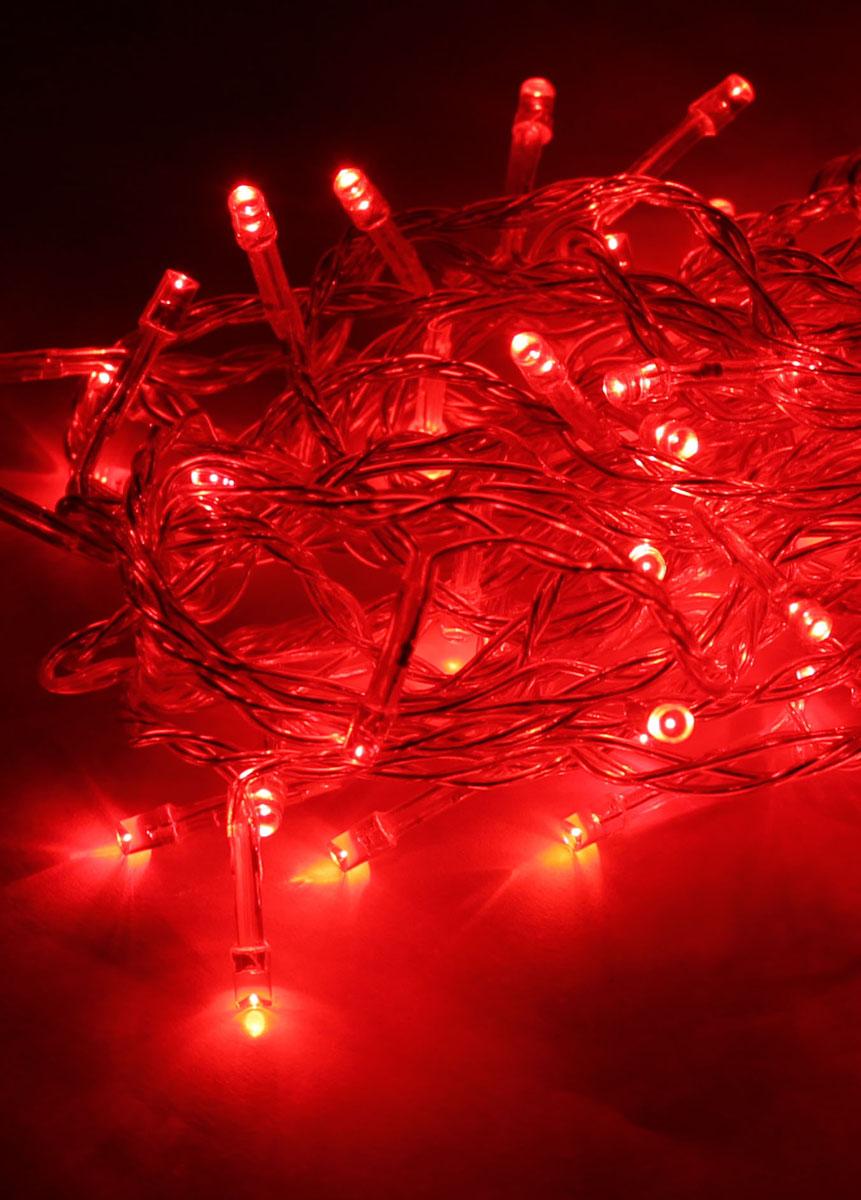 Светодиодная гирлянда Космос Маленькие лампочки, 80 светодиодов, цвет свечения: красный, 8,8 мKOC_GIR80LED_RСветодиодная гирлянда Космос Маленькие лампочки с пластиковыми насадками в виде небольших лампочек отлично подойдет для украшения новогодней елки, окна или стены. На гирлянде расположено 80 лампочек. Провод гирлянды прозрачного цвета оснащен прямоугольным контролером с кнопкой для переключения восьми режимов. Режимы мигания электрогирлянды: combination (комбинированный); in wales (волна); sequentian (последовательный); slo-glo;chasing/flash (чеканка/вспышка) ; slow fade (медленное затухание);twinkle/flash (мерцание/вспышка); steady on (постоянный). Светодиодная гирлянда Космос Маленькие лампочки создаст праздничную атмосферу и наполнит ваш дом радостью и позитивной энергией. Характеристики:Материал: пластик. Цвет свечения: красный. Количество светодиодов: 80 шт. Длина гирлянды: 8,8 м. Диаметр лампочки: 0,3 см. Режимы мигания: 8. Электропитание (от сети): 230 В. Артикул: KOC_GIR80LED_R.