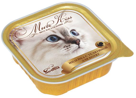 Консервы для котят Зоогурман Murr Kiss, с индейкой и телятиной, 100 г зоогурман консервы для собак зоогурман спецмяс деликатес желудочки куриные 250 г