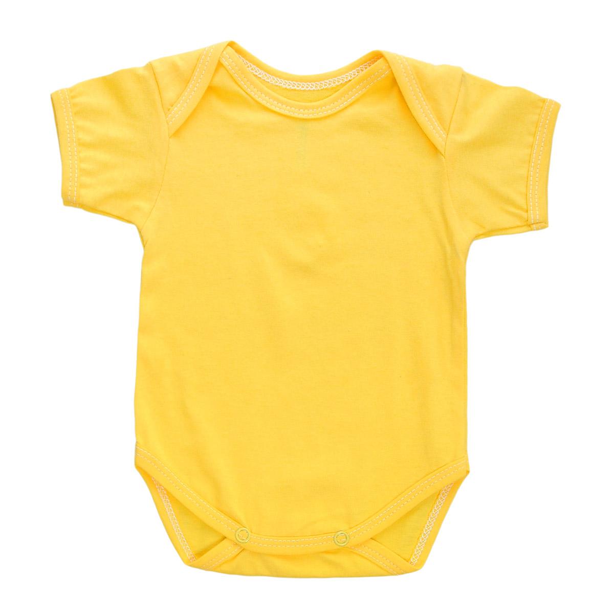 Боди детское Трон-Плюс, цвет: желтый. 5863. Размер 68, 6 месяцев5863Детское боди Трон-плюс с короткими рукавами послужит идеальным дополнением к гардеробу вашего ребенка, обеспечивая ему наибольший комфорт. Боди изготовлено из натурального хлопка, благодаря чему оно необычайно мягкое и легкое, не раздражает нежную кожу ребенка и хорошо вентилируется, а эластичные швы приятны телу младенца и не препятствуют его движениям. Удобные запахи на плечах и кнопки на ластовице помогают легко переодеть младенца или сменить подгузник. Боди полностью соответствует особенностям жизни ребенка в ранний период, не стесняя и не ограничивая его в движениях. В нем ваш ребенок всегда будет в центре внимания.