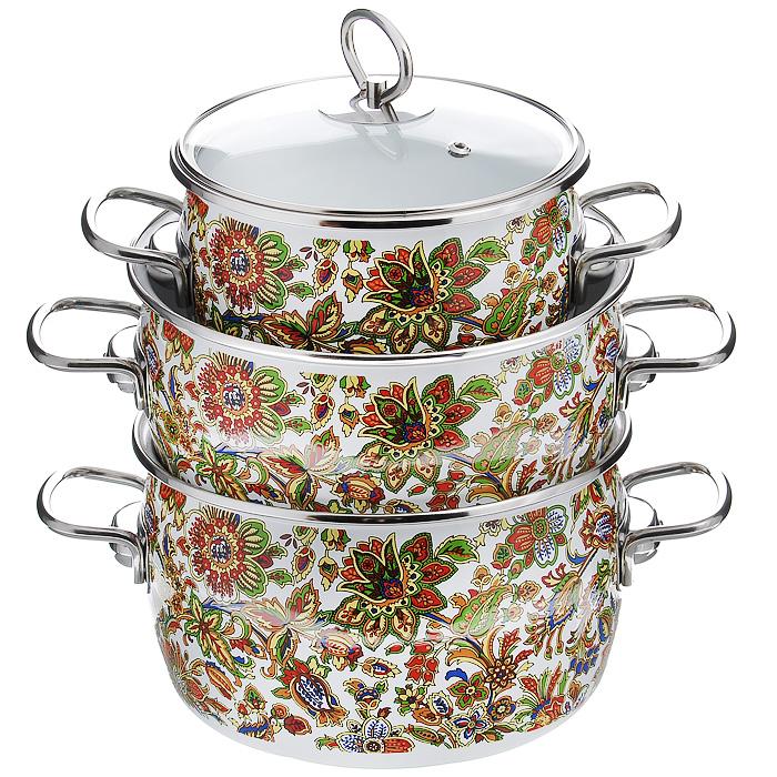 Набор кастрюль  Imperio  с крышками,3 предметов. 1DA135S - Посуда для приготовления