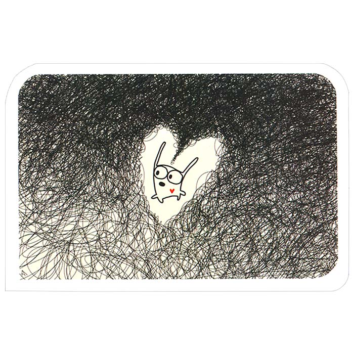 Открытка Люблю. Ручная авторская работа. OT018OT018Авторская открытка Люблю станет необычным и ярким дополнением к подарку близкому человеку. Открытка оформлена изображением забавного зайца. Обратная сторона открытки не содержит текста, что позволит вам самостоятельно написать самые теплые и искренние пожелания. К открытке прилагается конверт. Характеристики:Материал: бумага. Размер: 15 см х 10 см. Артикул: OT018.