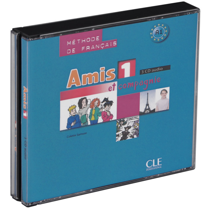 Amis et compagnie 1: Methode de Francais A1 (аудиокнига на 3 CD) trait d union 2 methode de francais pour migrants insertion professionnelle cd